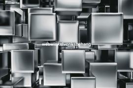 Dimex Fotobehang Metal Cubes MS-5-0285 Metaal/Kubus/Modern/3D