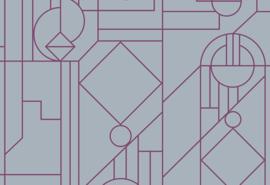 Hookedonwalls Tinted Tiles Behang 29014 Lush/Modern/Grafisch/Flock