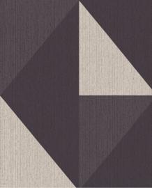 Eijffinger Bold Behang 395823 Modern/Grafisch/Ruiten/Industrieel/Glamour/Zwart