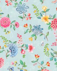 Eijffinger Pip Studio 5 Behang 300101 Bloemen/Vogels/Flowers/Romantisch/Kinderkamer/Landelijk/Blauw