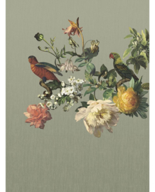 Eijffinger Museum Fotobehang 307402 Big Birds Sage Grey/Botanisch/Klassiek/Modern