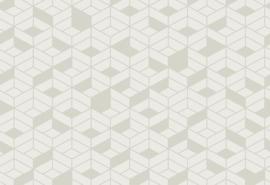 Hookedonwalls Tinted Tiles Behang 29023 Flake/Modern/Grafisch/3D
