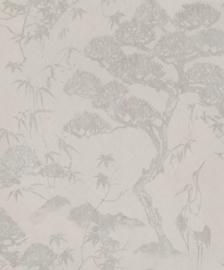 BN Wallcoverings/Voca Zen Behang 220271 Crane Dance/Kraanvogel/Botanisch/Natuurlijk