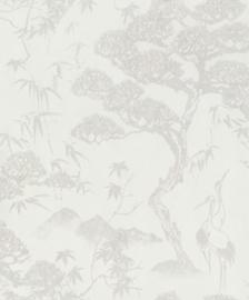 BN Wallcoverings/Voca Zen Behang 220270 Crane Dance/Kraanvogel/Botanisch/Bergen/Natuurlijk