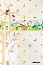 Eijffinger Hits4Kids  Behang 351734 Dieren/Kinderkamer/Babykamer/Behangrand