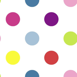 Noordwand Kids@Home Individual Behang 100103 Dotty Multi Bright/Dots/Stippen/Kinderkamer