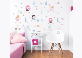 Walltastic My Woodland Fairies and Friends 44944 Wall Stickers - Dutch Wallcoverings