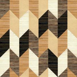 Origin Matieres Wood Behang 348-357214 XXL Grafisch/Grasweefsel look/Modern