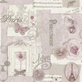 Arthouse Options2 Behang 665403 Romantisch/Nostalgisch/Vintage/Vlinders/Paris
