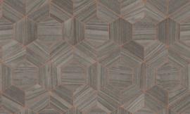 Arte Ligna Behang 42036 Hive/ Hexagon/Exclusief Wandbekleding