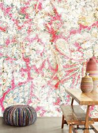 Eijffinger Sundari Behang 375211 Faded Wall Red/Etnisch Fotobehang