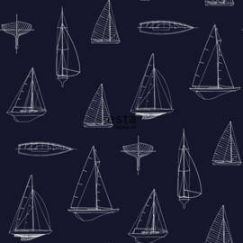 Esta Home Regatta Crew Surf Edition Behang 148-136428 Jongens/Boten/Donker Blauw