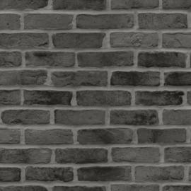 Esta Home Black & White Behang 155-139138 Baksteen/Stenen/Landelijk/Industrieel