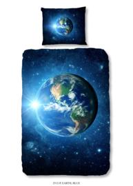 Dekbedovertrek Muller-Textiles 2512 Earth Blue/Wereldbol/Kids/Kinderkamer/Blauw 1 persoons