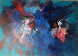 Schilderij 11/Kunst/Acrylverf/Flowers/Bloemen/Fantasie