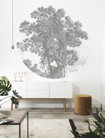 Kek Circle/Wonderwalls CK 013 Natuur/Bomen/Modern/Cirkel Fotobehang - Dutch Wallcoverings