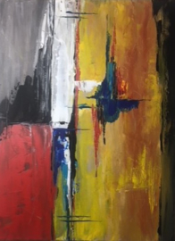 Schilderij 17/Kunst/Colorfull/Abstract/Modern/Multi/Vintage