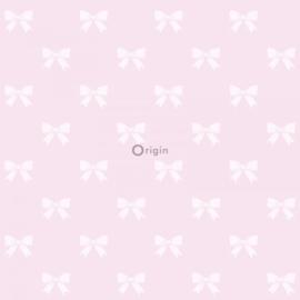 Origin Precious Behang 352-346844  Strikjes/Romantisch/Landelijk/Roze/Kinderkamer