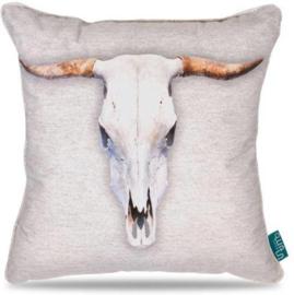 Kussen/Sierkussen Small Horn Skull Light -Intimo
