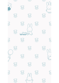 Kek Nijntje WP-507 Miffy Bears Blue Behang - Dutch Wallcoverings/Kek Amsterdam