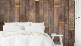 Dutch Wallcoverings One Roll One Motif Behang A41501 Wood in Gold/Hout/Landelijk/Modern