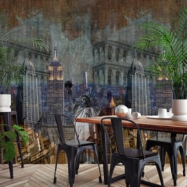 Dutch Wallcoverings One Roll One Motif Behang A40201 NY City/Steden/New York/Modern/Vintage