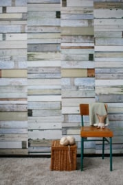 Studio Ditte Behang Sloophout wit/Scrapwood white