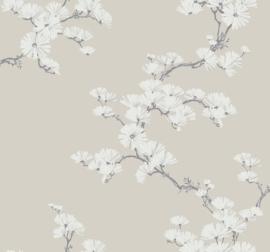 Dutch Wallcoverings Navy, Grey & White Behang BL70500 Botanisch/Bloemen/Takken/Floral