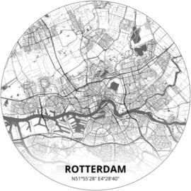 Noordwand Topchic 2021/2023 City Circles Behang Rotterdam CC010/Steden/Plattegrond