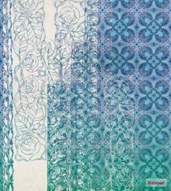 Komar/Noordwand Heritage Edition1 Fotobehang HX5-039 Art Nouveau Bleu/Bloemen/Modern Behang
