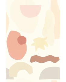 Eijffinger Mini Me Behang 399125 Shapes Earth/Fantasie/Grafisch/Kinderkamer Fotobehang