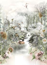 Komar Stories 4-203 Fable/Natuur/Botanisch/Vogel/Bloemen Fotobehang - Noordwand
