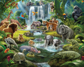 Walltastic 2020/Dutch Wallcoverings Fotobehang 46481 Jungle Adventure/Dieren/Water/Kinderkamer Behang