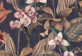 Hookedonwalls Breeze Behang BR24084 Orchidea/Bloemen/Botanisch/Vlinders