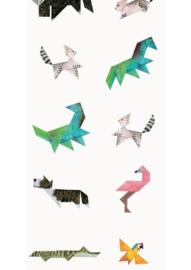 KEK Amsterdam Kids Fotobehang WP-421 Tangram Animals/Origami/Dieren/Kinderkamer Behang