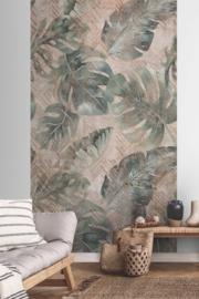 Dutch Wallcoverings One Roll One Motif Behang A41801 Ethnic Tropical/Modern/Grafisch/Monstera Bladeren