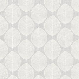 Arthouse Retro House Behang 908203 Scandi Leaf Grey/Bladeren/Modern/60/70 jaren