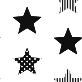Noordwand Kids@Home Individual Behang 100110 Superstar Black/Sterren/Zwart/Kinderkamer