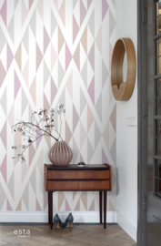 Esta Home Scandi Cool Fotobehang Diamond Pattern 158903 Modern/Ruit/Pastel