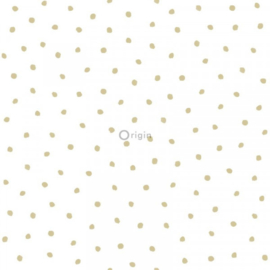 Origin Precious Behang 352-347673 Dots/Polka/Stippen/Kinderkamer/Goud