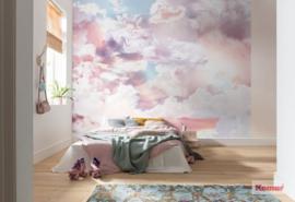 Komar Pure P6027A-VD3 Clouds/Romantisch/Roze/Wolken Fotobehang Noordwand