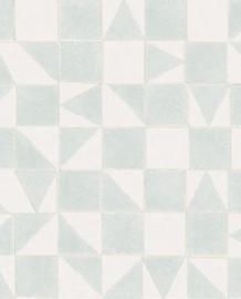 Eijffinger Mini Me Behang 399092 Scandinavisch/Grafisch/Geometrisch/Blauwgroen/Kinderkamer
