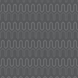 Rasch Galerie Geometrix Behang GX37614 Geometrisch/Modern/Grijs/Zwart