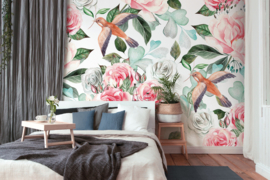 AS Creation Designwalls Fotobehang DD118540 Paradise 1/Bloemen/Botanisch/Vogels Behang