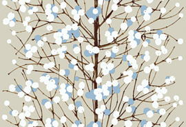 Hookedonwalls Marimekko Behang 23375 Lumimarja/Bomen/Natuur/Modern