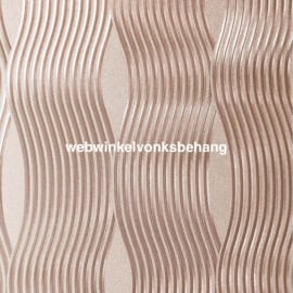 Arthouse Illusions   294500 Wave/ Modern/Roze/Gold Behang - Atwalls
