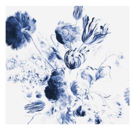 Kek Amsterdam WP 218 Royal Blue Flowers 2 Fotobehang  - Dutch Wallcoverings