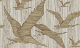 Arte Ligna Behang 42041 Hover/Vogels/Botanisch/Exclusief Wandbekleding