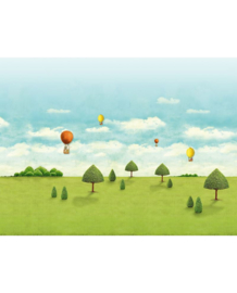Eijffinger Pip Studio 3 Fotobehang 341098 Natuur/Luchtballon/Wolken