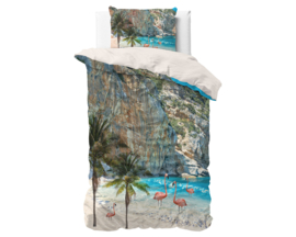 Dekbedovertrek Royal Textile Flamingo Beach Blue 14020939 Tropisch/Strand/Vogels